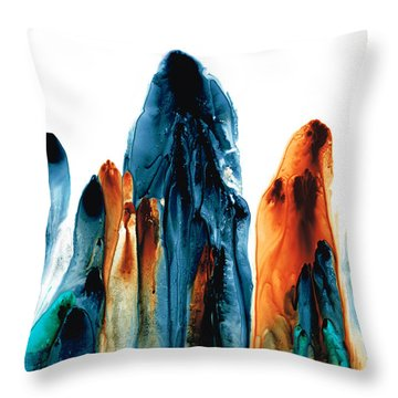 The Chosen Ones - Emotive Abstract Painting Throw Pillow by Sharon Cummings