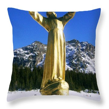 The Christ Of The Deep Throw Pillow by Giuseppe Epifani