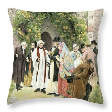 The Christening Throw Pillow