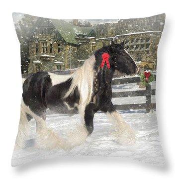 The Christmas Pony Throw Pillow
