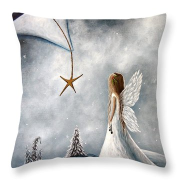 The Christmas Star Original Artwork Throw Pillow