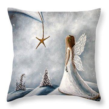 The Christmas Star Original Artwork Throw Pillow