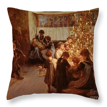 The Christmas Tree Throw Pillow by Albert Chevallier Tayler