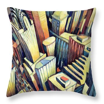 The Chrysler Building Throw Pillow by Charlotte Johnson Wahl