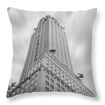 The Chrysler Building Throw Pillow by Mike McGlothlen