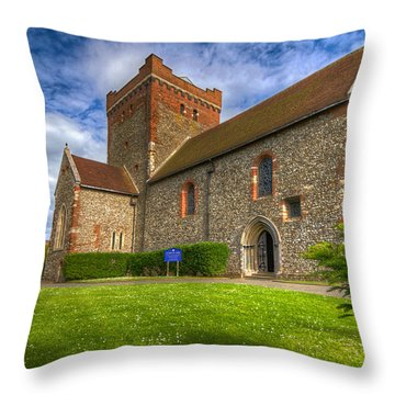 The Church At Dover Castle Throw Pillow by Tim Stanley