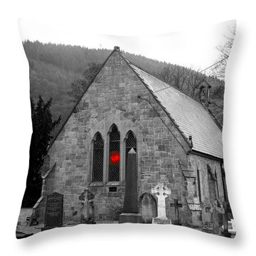 Throw Pillow featuring the photograph The Church by Christopher Rowlands