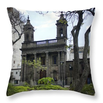 Throw Pillow featuring the photograph The Church Green by Lynn Palmer