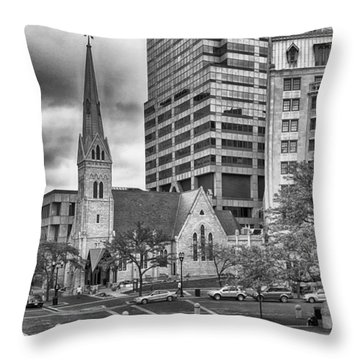 The Church Throw Pillow by Howard Salmon