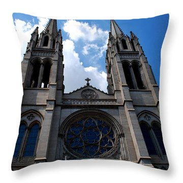 Throw Pillow featuring the photograph The Church by Matt Harang