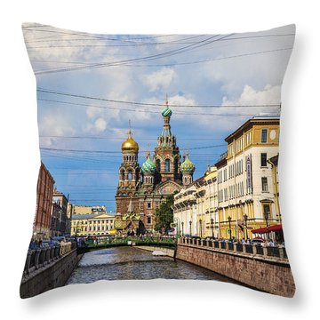 The Church Of Our Savior On Spilled Blood - St. Petersburg - Russia Throw Pillow