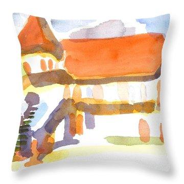 The Church On Shepherd Street V Throw Pillow by Kip DeVore