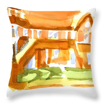 The Church On Shepherd Street Vi Throw Pillow by Kip DeVore