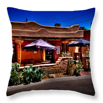 The Church Street Cafe - Albuquerque New Mexico Throw Pillow by David Patterson