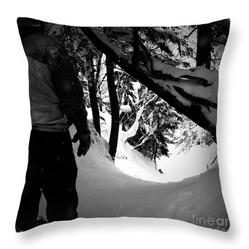Throw Pillow featuring the photograph The Chute by James Aiken
