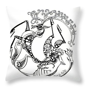 The Circle Of Life Throw Pillow by Melinda Dare Benfield
