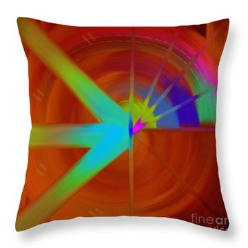 The Circular Abstract-3 Throw Pillow