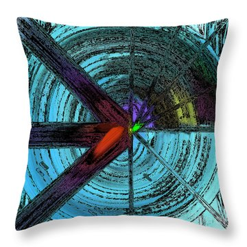 The Circular Abstract-4 Throw Pillow