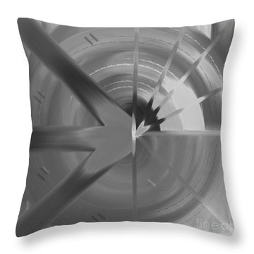 The Circular Abstract Throw Pillow