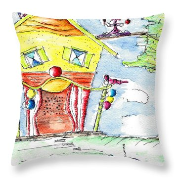 The Circus Clown Throw Pillow
