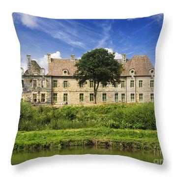 The Cistercian Abbey De Bon Repos Cotes D'armor Brittany France  Throw Pillow by Jon Boyes