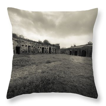 The Citadel At Fort Macomb Throw Pillow by David Morefield