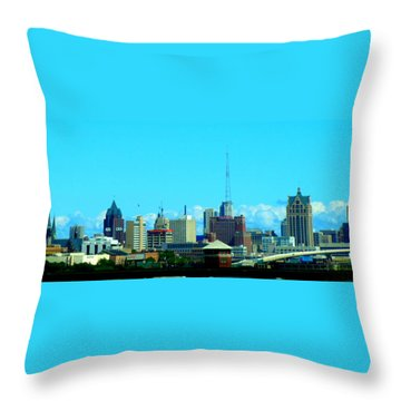 The City Of Festivals Throw Pillow