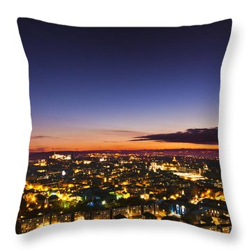 The City Of Lights Throw Pillow
