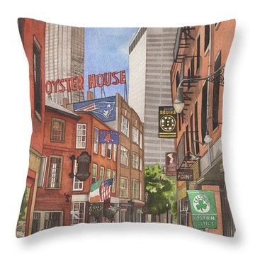 The City On A Hill Throw Pillow