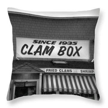 The Clam Box Throw Pillow by Joann Vitali