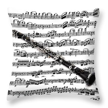 The Clarinet Throw Pillow