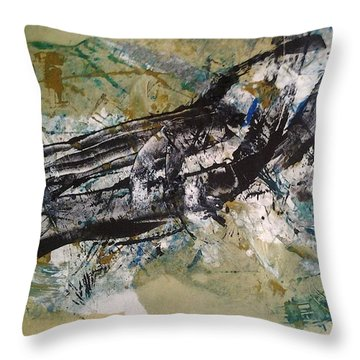 the Claw Throw Pillow by Lesley Fletcher