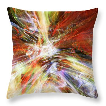 Throw Pillow featuring the digital art The Cleansing by Margie Chapman