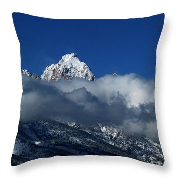 Throw Pillow featuring the photograph The Clearing Storm by Raymond Salani III