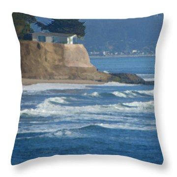 The Cliff House Throw Pillow by Deana Glenz