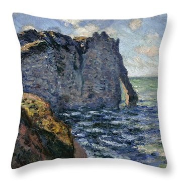 The Cliff Of Aval, Etretat, 1885 Throw Pillow