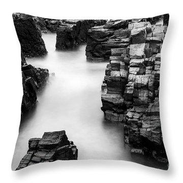 The Cliffs Throw Pillow by Gunnar Orn Arnason