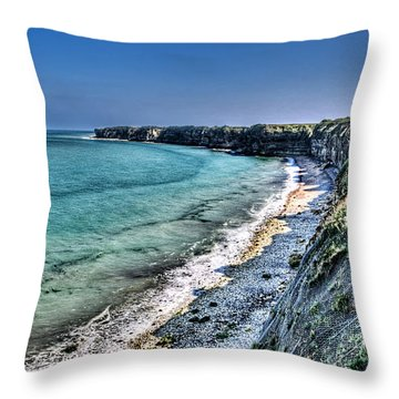 The Cliffs Of Pointe Du Hoc Throw Pillow