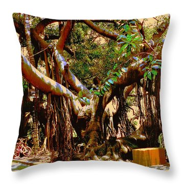 The Climbing Tree Throw Pillow