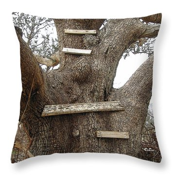 The Climbing Tree - Hurricane Katrina Survivor Throw Pillow by Rebecca Korpita