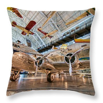 The Clipper Flying Cloud Throw Pillow