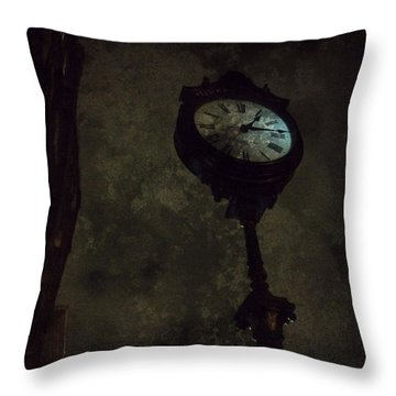 The Clock Of Greenpoint Throw Pillow by Natasha Marco