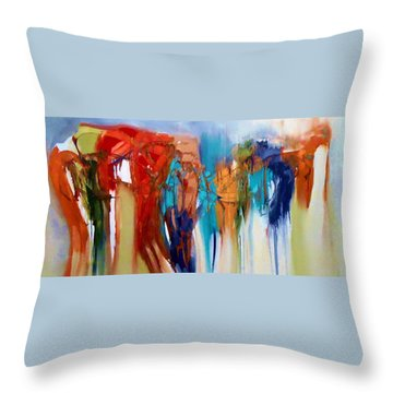 Throw Pillow featuring the painting The Closet by Lisa Kaiser