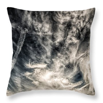 The Clouds Talk Throw Pillow by J Riley Johnson