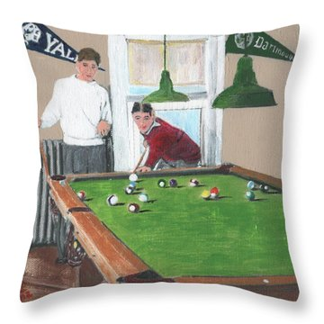 The Club House Throw Pillow