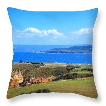 The Coast Of La Coruna Throw Pillow by Mary Machare