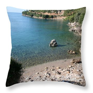 Throw Pillow featuring the photograph The Coast To Oren  by Tracey Harrington-Simpson