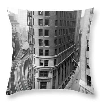 The Cocoa Exchange Building  Throw Pillow by Underwood Archives