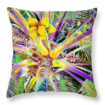 The Coconut Tree Throw Pillow