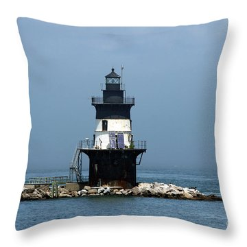 The Coffee Pot Lighthouse Throw Pillow by Christiane Schulze Art And Photography